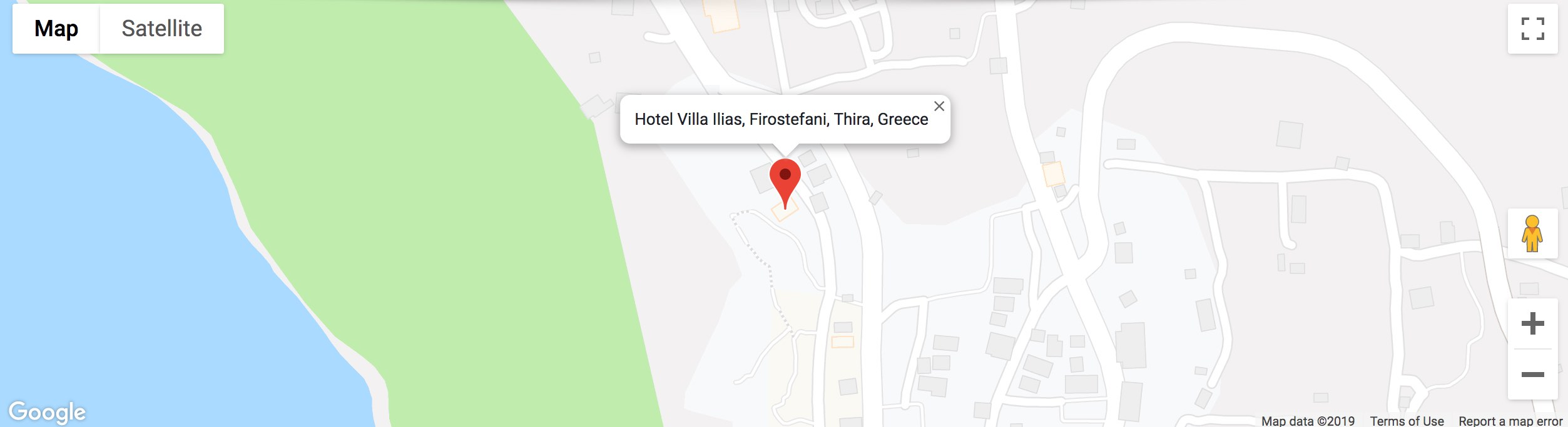Hotel Villa Ilias Firostefani Greece map